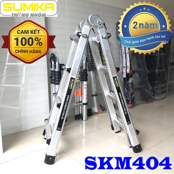 Thang nhôm gấp trượt 4m Sumika SKM404