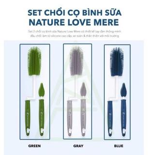 Bộ 2 cọ rửa bình và núm ti Silicone cao cấp NATURE LOVE MERE Hàn Quốc thumbnail