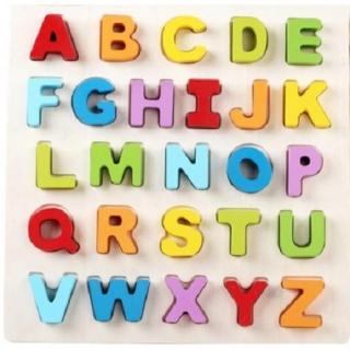 Bảng gỗ chữ cái nổi có hộp màu cho bé - BN33 thumbnail
