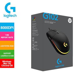Chuột có dây, Chuột game Logitech G102 Prodigy RGB LED (Đen), Chuột chính hãng cao cấp, Nhà phân phối và bảo hành chính thức của Thụy Sỹ.Bảo hành 2 năm toàn quốc thumbnail