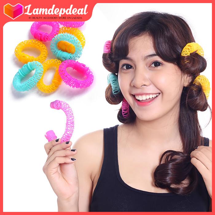 Lamdepdeal - Lô uốn tóc lò xo không dùng nhiệt - Lô cuốn tóc giá rẻ, dễ sử dụng - Dụng cụ làm tóc. cao cấp