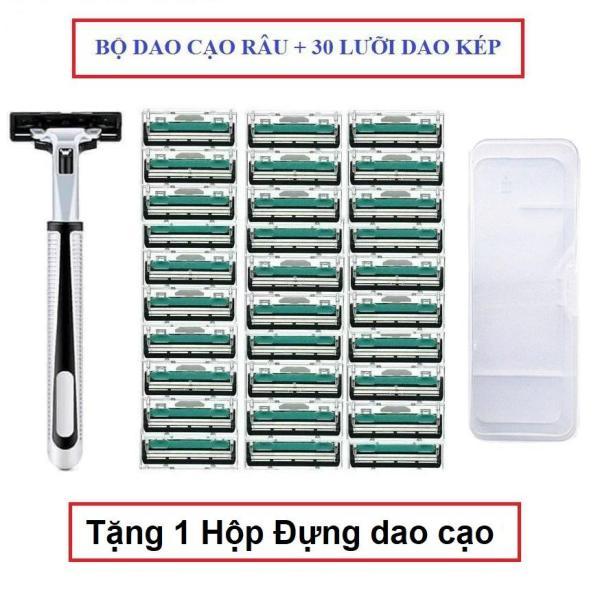 [ Hàng Giá Sốc ] Combo 30 Lưỡi dao cạo râu và 1 Cán Dao cạo râu - Tặng hộp đựng Dao cạo