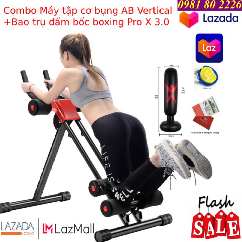 Máy tập cơ bụng   máy tập gym   máy tập thể dục   máy tập đa năng AB Vertical® - Tặng kèm bao trụ đấm bốc Pro X 3.0