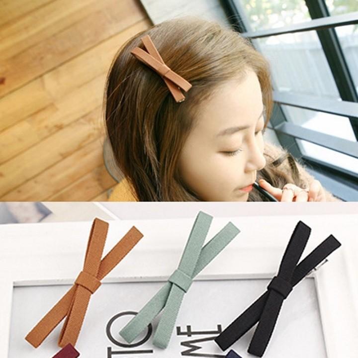Set 5 kẹp tóc nơ xinh xắn cho bạn gái - Kẹp tóc xinh xắn - Nơ kẹp tóc