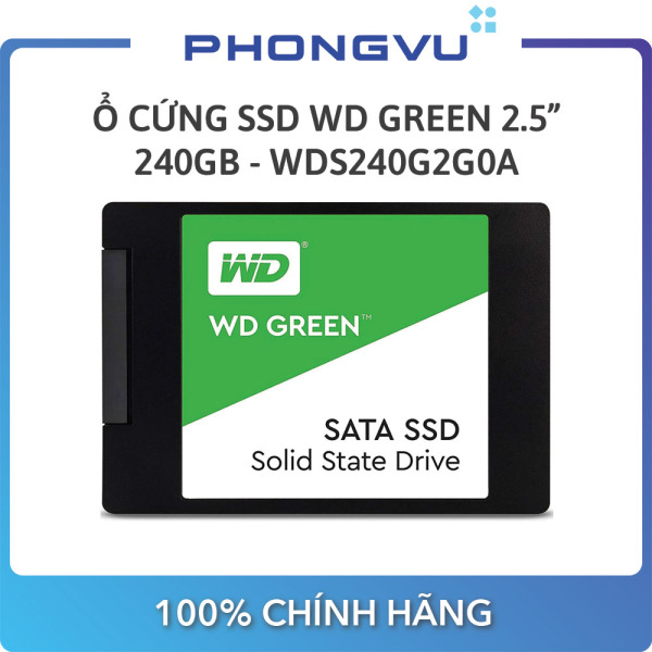 Bảng giá Ổ cứng SSD WD Green 240GB (WDS240G2G0A) - Bảo hành 36 tháng Phong Vũ