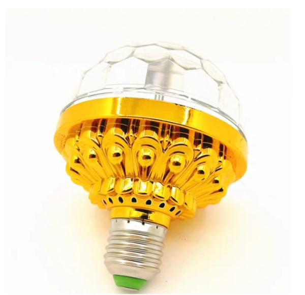 [HCM]Đèn LED 7 màu vũ trường cảm ứng nhạcđèn LED xoay 7 màu sân khấu chớp theo nhạc Đèn nháy theo nhạc đèn chớp 7 màu đèn trang trí đèn Led karaoke (màu vàng)