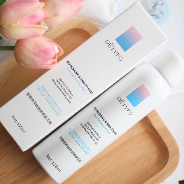 [HCM]Chai tẩy lông dạng xịt DetvFo 150ML - MIMOSAA - Kem tẩy lông dạng xịt bọt mềm kem triệt lông dịu nhẹ lành tính