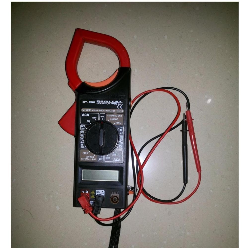 Đồng hồ đo vạn năng kỹ thuật số đo dòng điện DT 266 - Tặng kèm pin vuông 9V-6F22