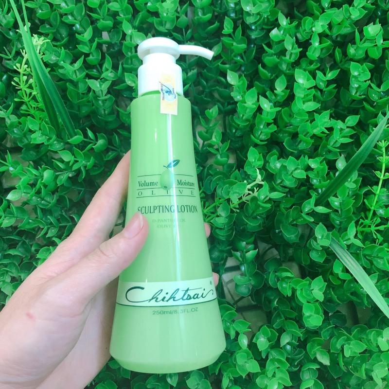 Gel giữ nếp tóc uốn xoăn bồng bềnh Chihtsai Olive Sculpting Lotion 250ml giá rẻ