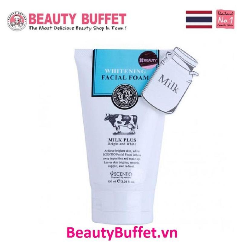 Sữa Rửa Mặt Tạo Bọt Dưỡng Trắng Và Trẻ Hoá Da Scentio Milk Plus 100 ml Beauty Buffet nhập khẩu