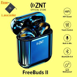[MỚI] Tai nghe không dây ZNT FreeBuds II Tai nghe Bluetooth 5.0 Tai nghe nửa trong tai Mono Stereo TWS Âm thanh Hi-Fi Micrô tích hợp (Điều khiển cảm ứng thông minh IPX5 Thời gian chơi lên đến 12 giờ với hộp sạc) thumbnail