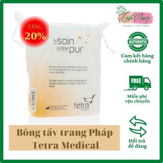 [500 miếng + thêm 20%] Bông Tẩy trang Pháp Tetra Medical làm từ cotton nguyên chất, mềm mịn, thấm hút tốt, dịu nhẹ, đảm bảo an toàn với làn da nhạy cảm và cả da em bé thumbnail