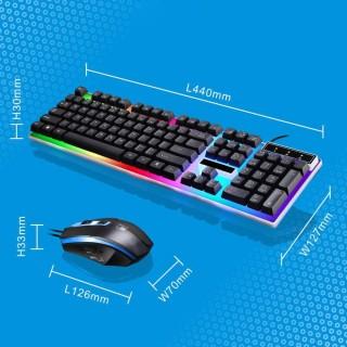 (Tặng chuột gamming, lót chuột cực lớn trị giá 150k)Bàn phím - Bàn phím chơi game-Combo bàn phím và chuột giả cơ G21,lót chuột cỡ lớn, Bộ bàn phím giả cơ và chuột game dành cho game thủ G21 led đa màu thumbnail