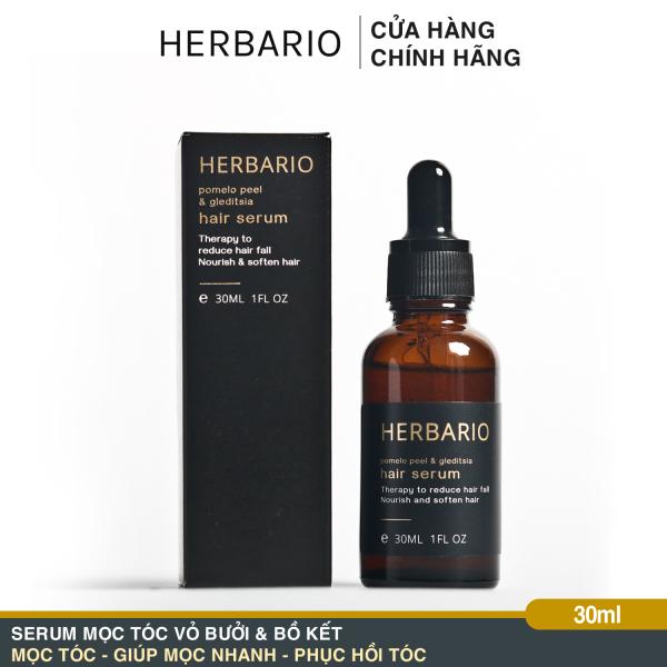 Serum mọc tóc Vỏ Bưởi và Bồ Kết Herbario 30ml (pomelo peel & gleditsia) chăm sóc tóc chuyên sâu tinh chất vỏ bưởi và bồ kết giúp Giảm rụng tóc, mọc tóc dài nhanh, mọc tóc dày và đen.