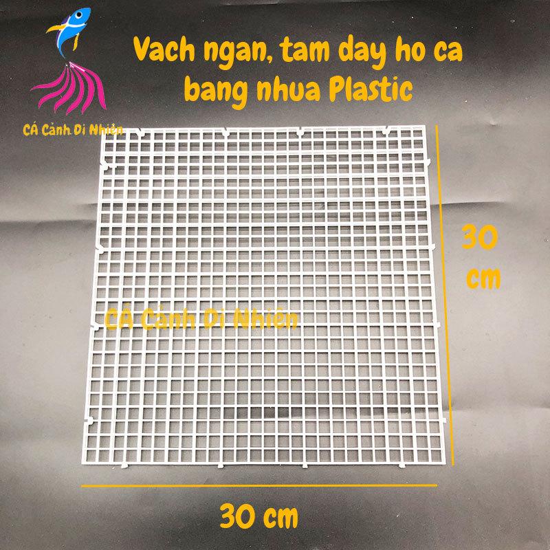 Tâm nhựa làm vách ngăn hoặc nắp đậy bể cá bằng Plastic size 30x30 cm