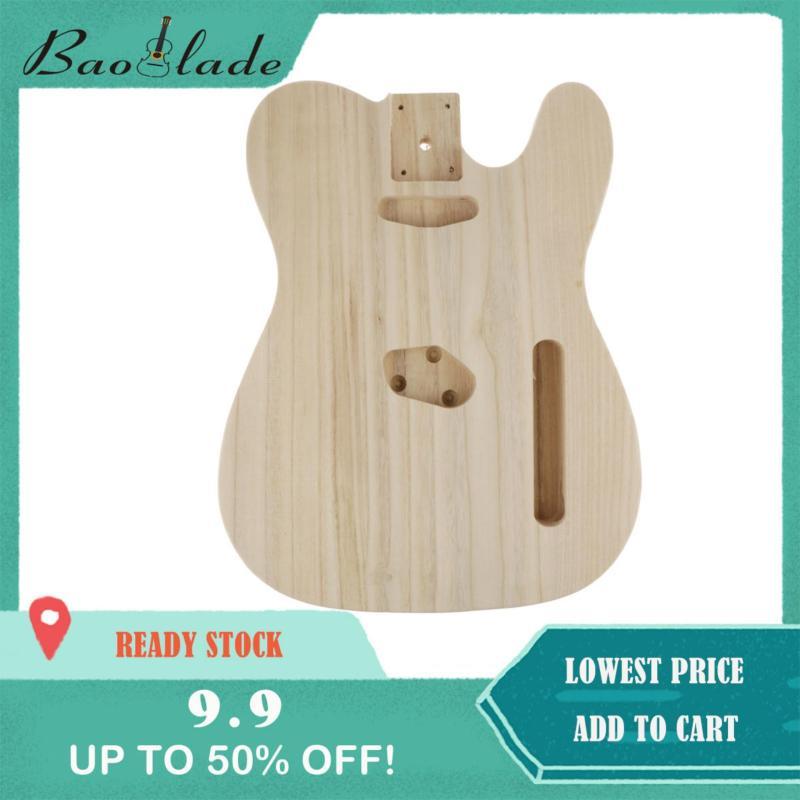 Baoblade Gỗ Chưa Hoàn Thành Đàn Guitar Điện Cơ Thể cho TL Phong Cách Bass Guiatr DIY Phụ Kiện