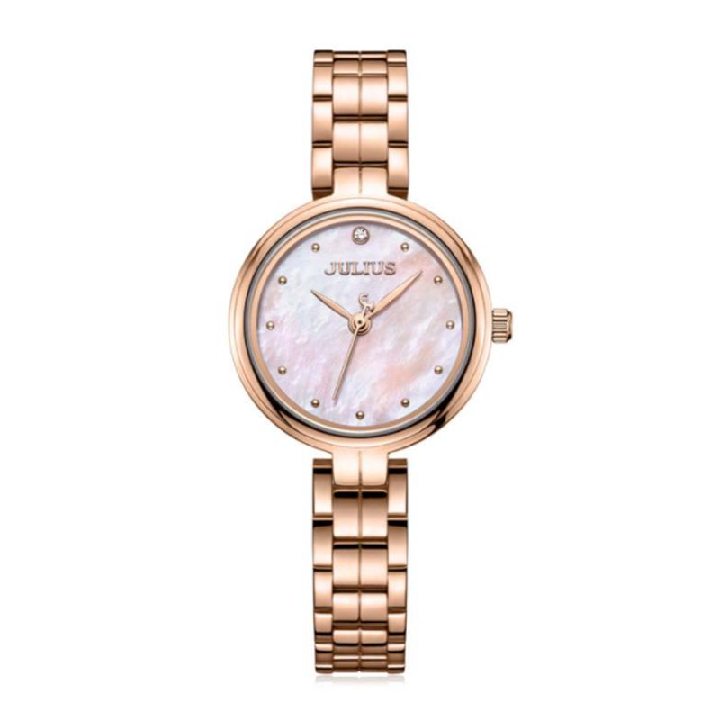 Đồng hồ nữ Julius JA-1294 dây thép mặt số khảm trai siêu đẹp