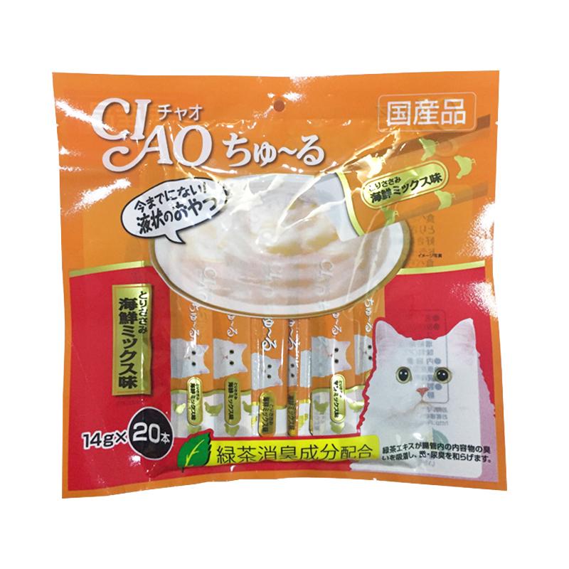 Ciao churu - Soup thưởng cho mèo dạng sốt gói 20 hoặc 40 tuýp (Hàng Thái)