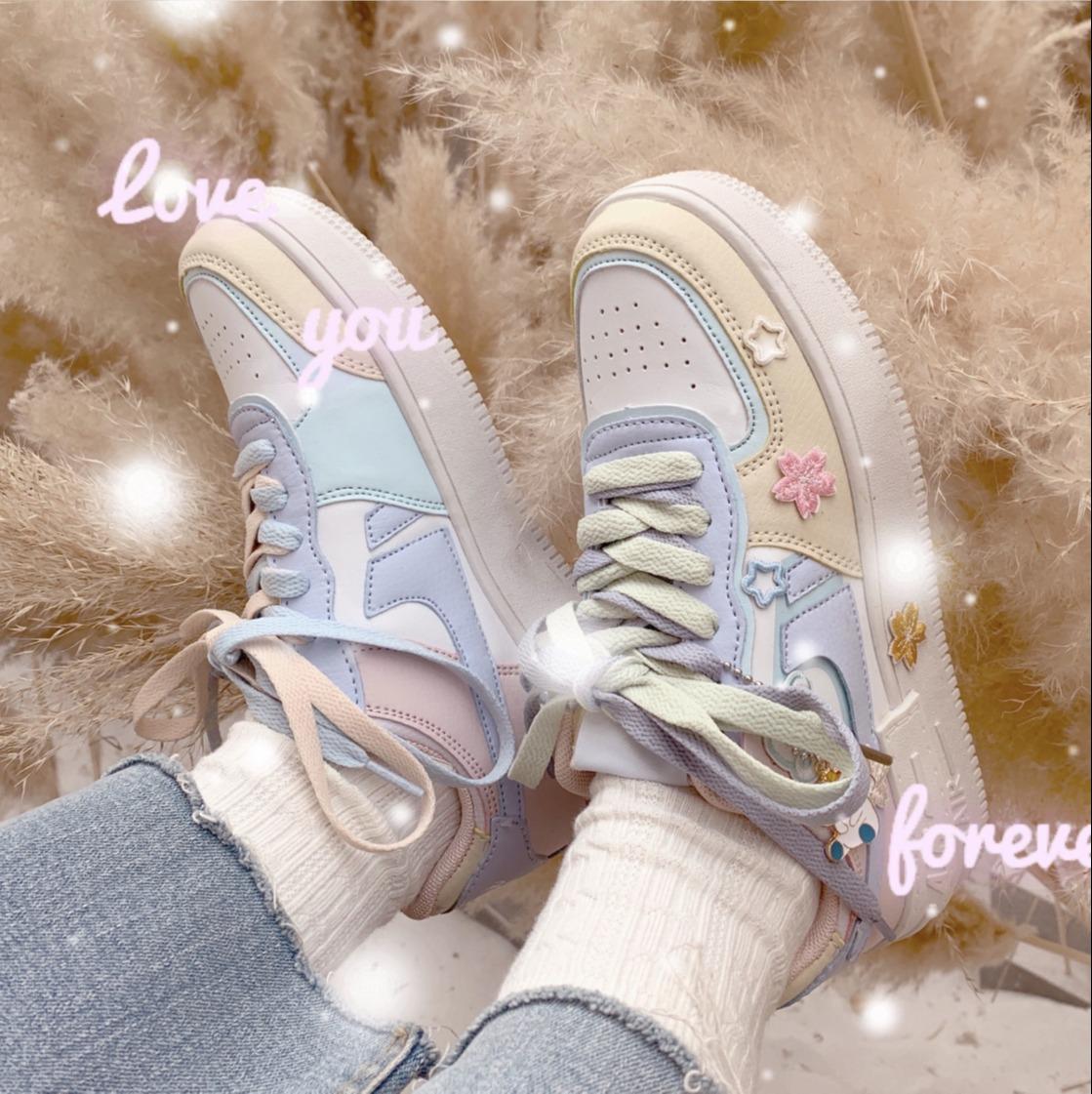 Giày Thể Thao Sneaker Air Phiên Bản Màu Kẹo Cực Xinh