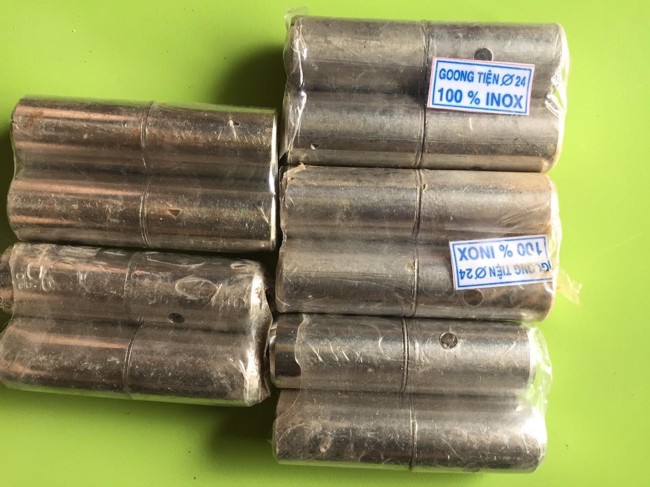 Bộ 10 bản lề cối tiện inox phi 24, bản lề cửa inox chịu lực. bộ 10 bản lề cối tiện chịu lực inox