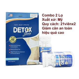 Liệu Trình 2 Lọ Giảm Cân Mỹ Detox Slimming Capsules Hiệu Quả An Toàn (21x2 Viên) thumbnail