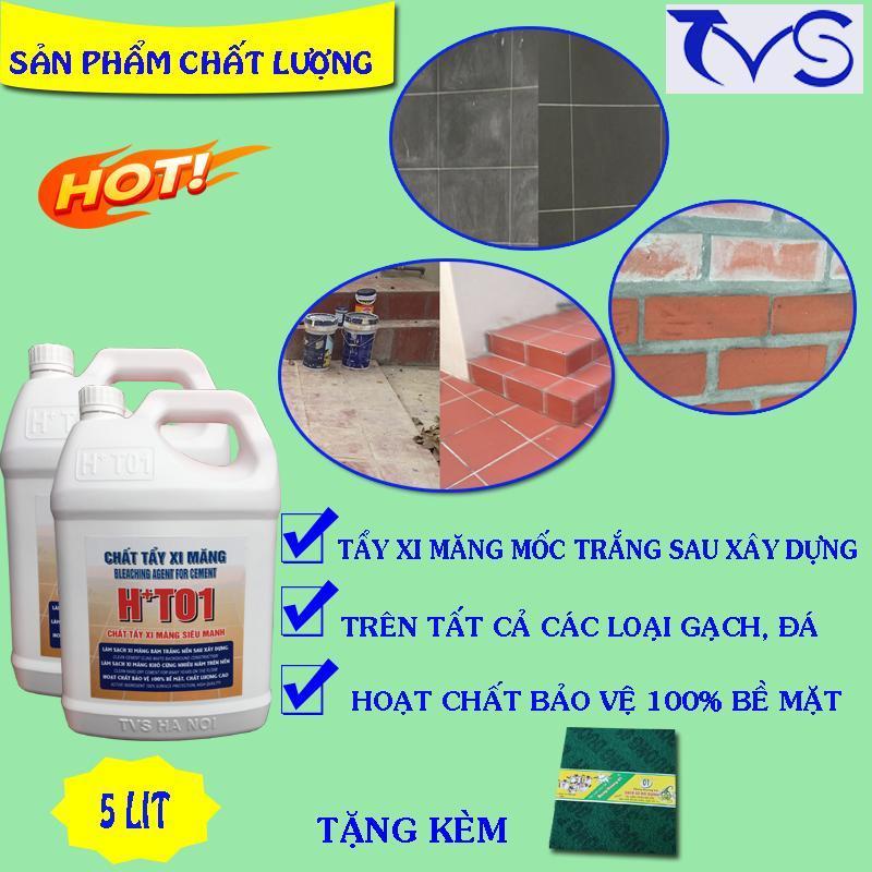 Nước tẩy xi măng HT01 5LIT ( chất tẩy xi măng, tẩy gỉ sét trên gạch, tẩy cặn canxi trên gạch)