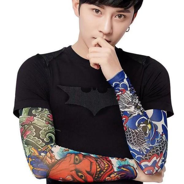 Bộ 02 ĐÔI găng tay hình xăm tattoo hoạ tiết ngẫu nhiên