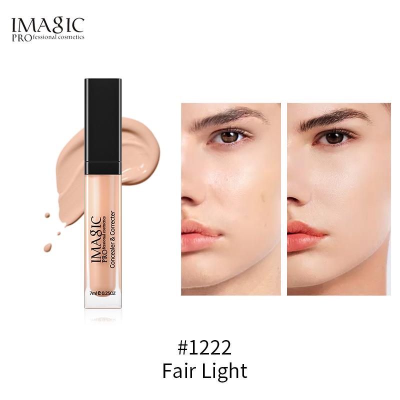Kem che khuyết điểm dạng lỏng không thấm nước thích hợp cho mọi màu da mắt/mặt, có 6 màu để lựa chọn
