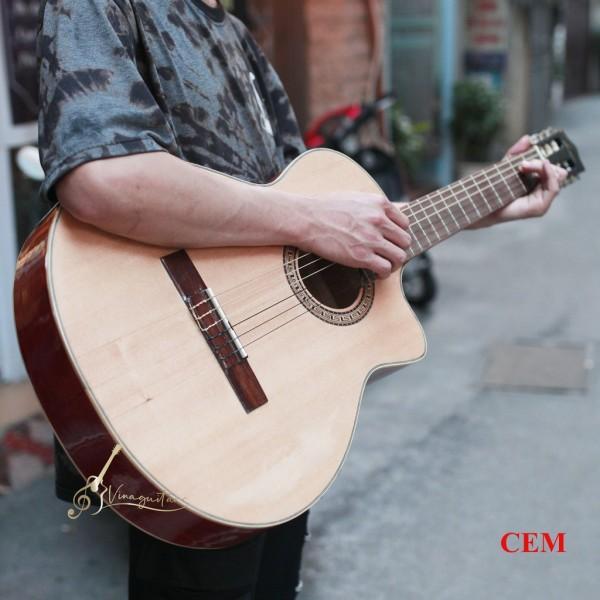 [Có size 3/4 mini] Đàn Guitar Classic VG-CEM Mặt Gỗ Thịt Có Ty Chỉnh - Tặng 12 Phụ Kiện-Nhạc Cụ 3Số Phân Phối Chính Hãng