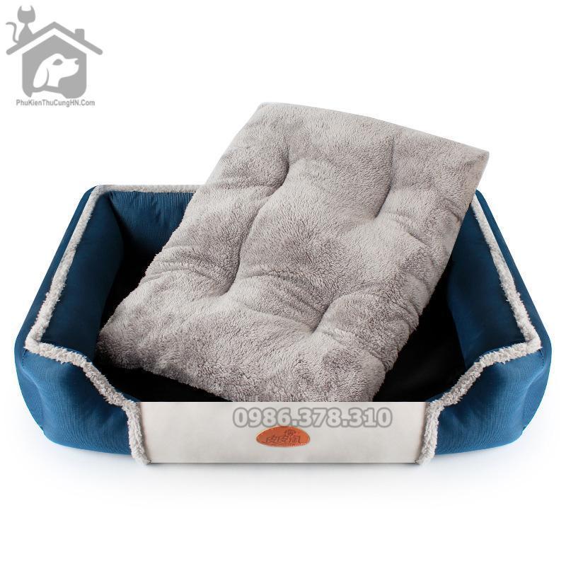 Đệm bông 2 lớp có thể tháo rời, dễ vệ sinh dành cho chó mèo - Đệm taotaopet
