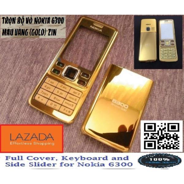 TRỌN BỘ VỎ KHUNG PHÍM ĐIỆN THOẠI 6300 GOLD