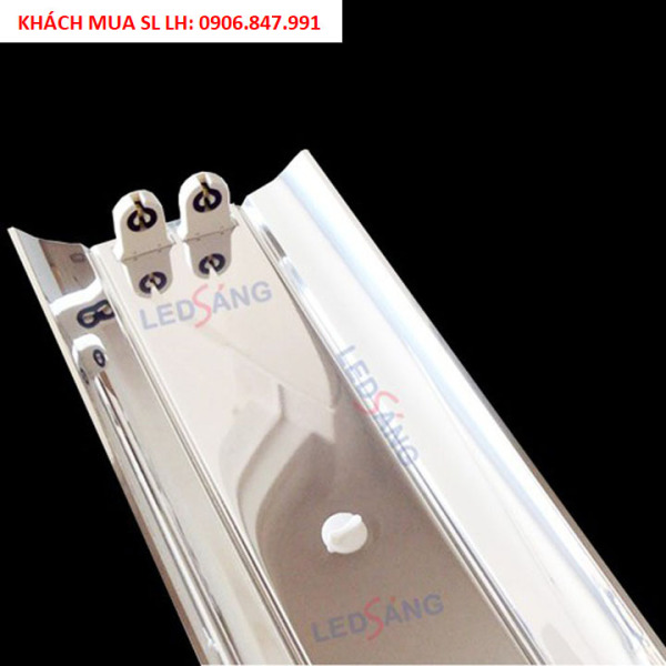 Bảng giá Máng đèn LED Inox 1m2 - Máng chóa đèn inox đôi (IN - C2 - 120)