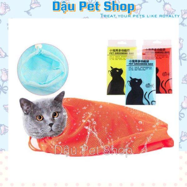 [HCM]Túi lưới đa năng tắm mèo hổ trợ cắt móng cho mèo đa dạng mẫu mã chất lượng sản phẩm đảm bảo và cam kết hàng đúng như mô tả