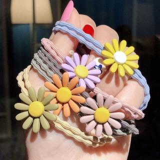 dây buộc tóc thun hoa cúc nhiều màu sắc (dây cột tóc) thumbnail