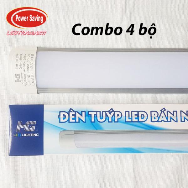 Combo 4 bộ tuýp led HG 0,6m 23w