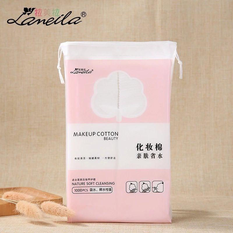 Bông Tẩy Trang Lameila Sandwich Cosmetic Cotton Hộp 1000 Miếng Tha Hồ Xài cao cấp