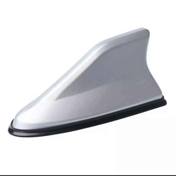 Vây cá mập ô tô, xe hơi có ăng ten bắt sóng cao cấp - đế cao su chống nước ( Màu bạc)