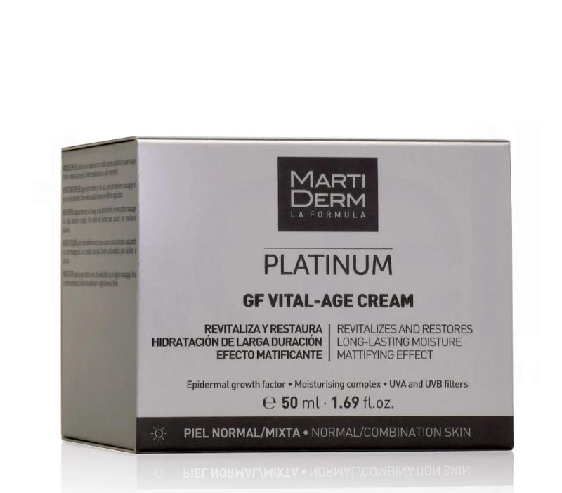 Kem Dưỡng Phục Hồi Chống Lão Hóa Đa Chức Năng - MartiDerm Platinum GF Vital Age Cream normal/mixed Skin (50ml)