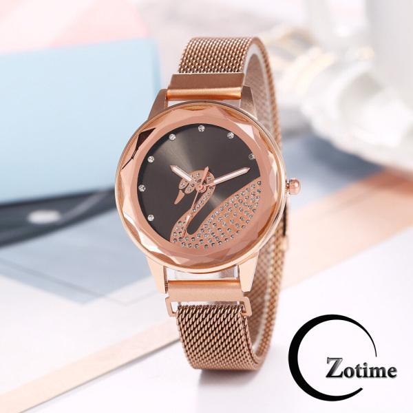 Đồng hồ thời trang nữ đeo tay dây từ nam châm thiên nga lấp lánh cực đẹp ZO94