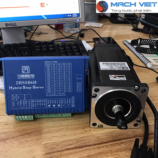 [Trả góp 0%]Bộ động cơ Hybrid Servo JMC 12Nm 86J18156EC-1000 và Driver 2HSS86H