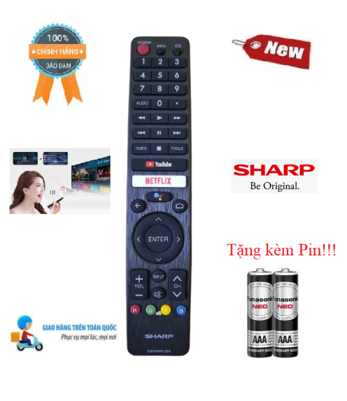 Bảng giá Remote Điều khiển tivi Sharp giọng nói GB346WJSA - Hàng mới chính hãng 100% Tặng kèm Pin!!!