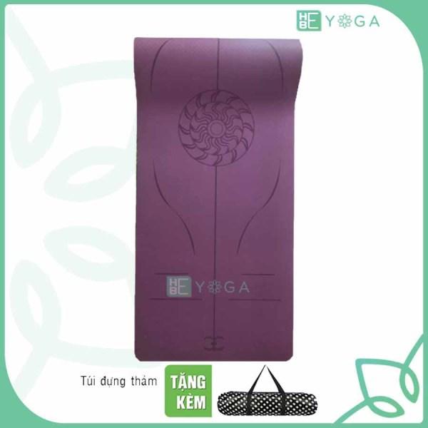 Bảng giá Thảm Tập Yoga Định Tuyến 8mm 1 Lớp Cao Cấp Tặng Kèm Túi