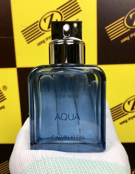 Calvin Klein - Eternity - Aqua. 100ml. Eau de toilette. Sản xuất Anh. Mùi nam nhưng nữ sứt được
