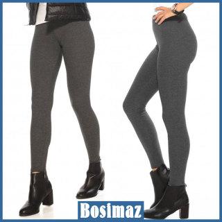 Quần Legging Nữ Bosimaz MS014 dài không túi màu xám đậm cao cấp, thun co giãn 4 chiều, vải đẹp dày, thoáng mát không xù lông. thumbnail