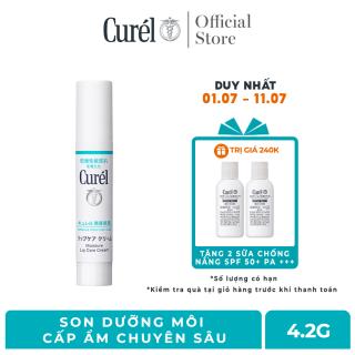 Son Dưỡng Môi Cấp Ẩm Chuyên Sâu Curel Intensive Moisture Care Moisture Lip Care Cream 4.2g Không Màu thumbnail