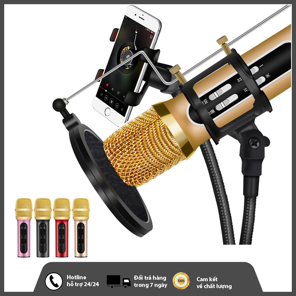 Bộ Micro C11 Live Stream, Hát Karaoke Chuyên Nghiệp Mới, Đầy Đủ Phụ Kiện Tai Nghe, Cáp Sạc, Dây Live, Dây Lấy Nhạc ...Bảo Hành 12 Tháng
