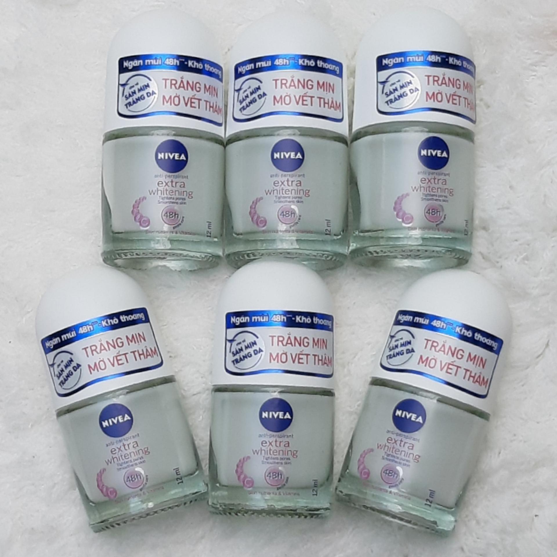 Combo 6 Lăn khử mùi Nivea 12ml ( Dành cho nữ ) nhập khẩu