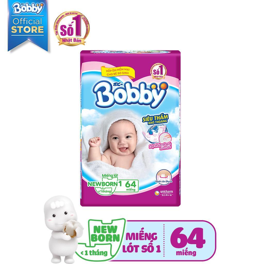Miếng lót sơ sinh Bobby gói lớn Newborn 1-64 miếng (0-5kg)