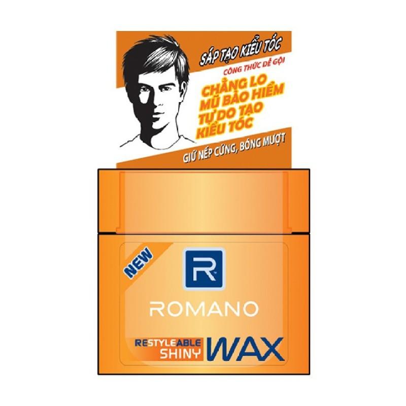 Wax tạo kiểu tóc cao cấp Romano Shiny giữ nếp bóng mượt 68gr giá rẻ