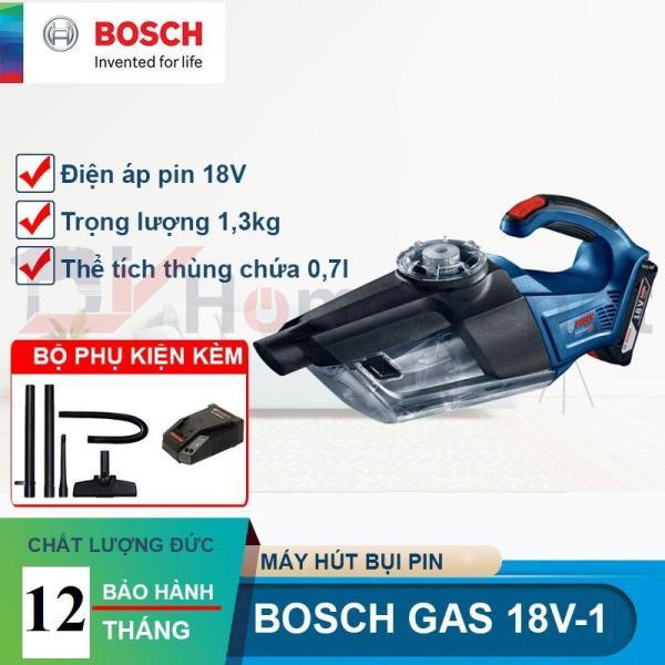 Máy hút bụi dùng pin 18V Bosch GAS 18 V-1 ( 1 pin 18V 3.0Ah, 1 sạc)
